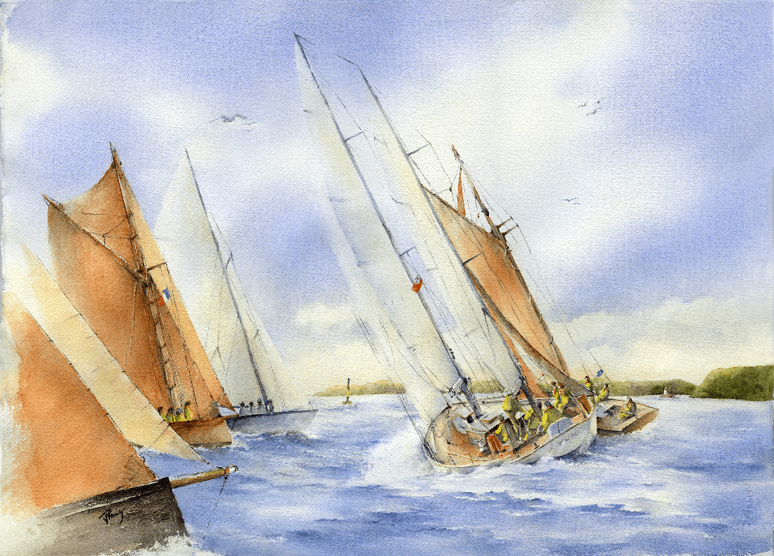 The 2017 Spirit of the Regatta watercolour by Isabelle Lagrange Plumier