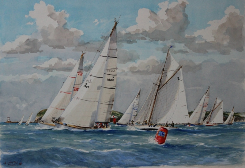 The 2015 Spirit of the Regatta Painting by Guy L'Hostis
