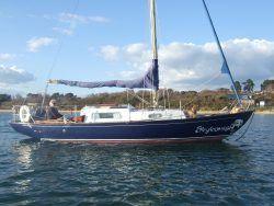 <p><strong>Skykomish</strong></p><p>Designer: Kim Holman<br />Builder: Ocean Shipyard Poole<br />Launched: 1965<br />Class: Elizabethan 29</p>