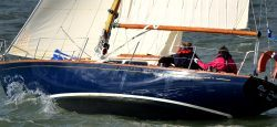 <p><strong>Blue Dolphin of Wight</strong></p><p>Designer: Bill Tripp<br />Builder: Dotsett Boatyard <br />Launched: 1963<br />Class: Seafarer 30</p>