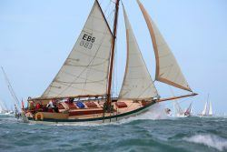 <p><strong>Ivy Green (Photo Patrick Eden)</strong></p><p>Designer: Ed Burnett<br />Builder: Elephant Boatyard<br />Launched: 2003<br />Class: Based on Bristol pilot cutter</p>