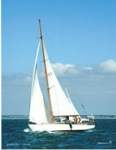 <p><strong>Gioconda (photo Beken)</strong></p><p>Designer: Nicholson<br />Builder: Clare Lallow Cowes<br />Launched: Not known (designed 1958)<br />Class: Jolina</p>