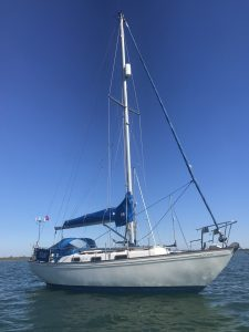 <p><strong>Signy</strong></p><p>Designer: Kim Holman<br />Builder: West End Marine<br />Launched: 1986<br />Class: Twister 28</p>