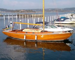 <p><strong>Jeannie</strong></p><p>Designer: Tord Sunden<br />Builder: Saxemara Boatyard, Sweden<br />Launched: 1966<br />Class: Nordic Folkboat</p>