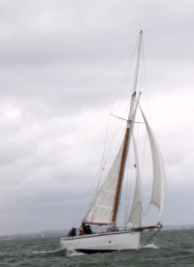 <p><strong>Rosebud</strong></p><p>Designer: John Hesp <br />Builder: Robert Hesp <br />Launched: 2000<br />Class: One off Falmouth Quay Punt</p>